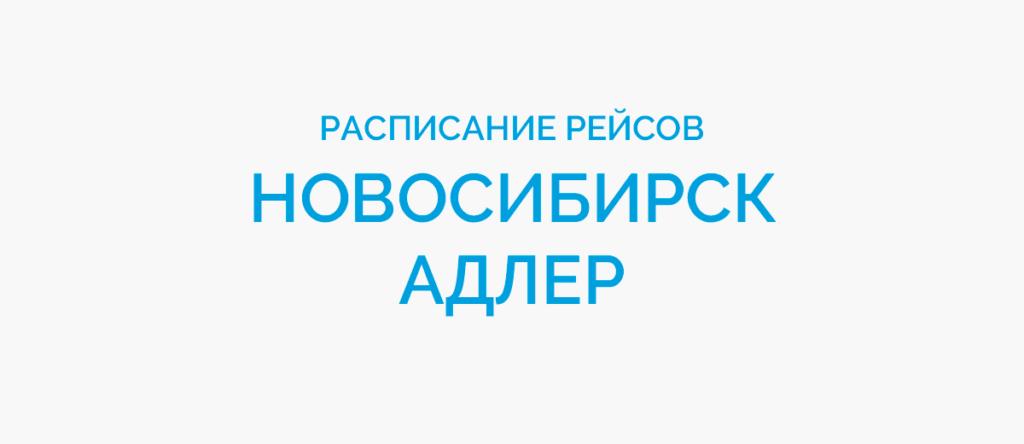 Расписание рейсов самолетов Новосибирск - Адлер