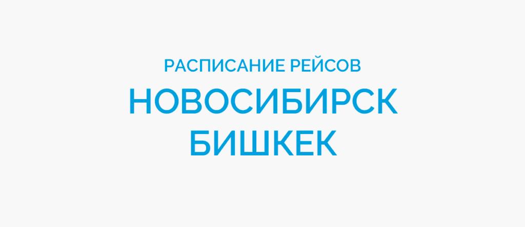 Расписание рейсов самолетов Новосибирск - Бишкек