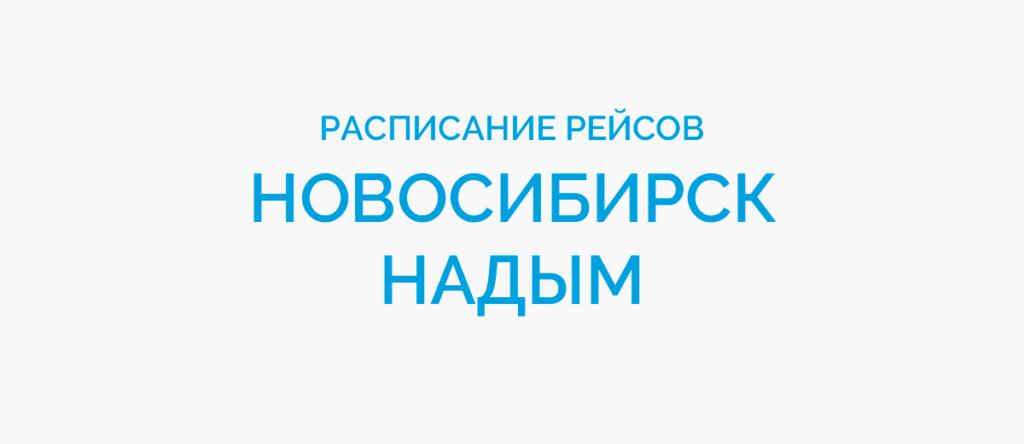 Расписание рейсов самолетов Новосибирск - Надым