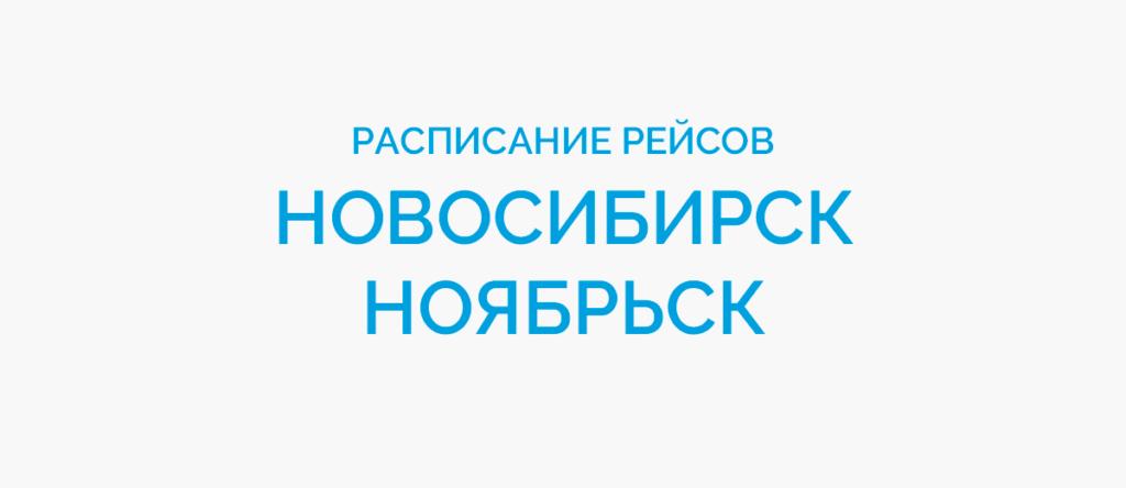 Расписание рейсов самолетов Новосибирск - Ноябрьск