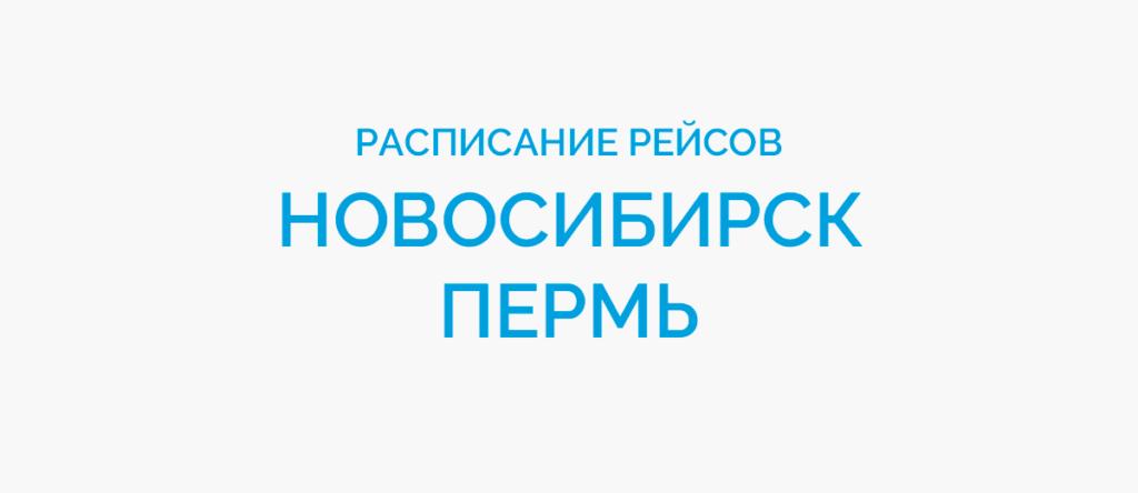 Расписание рейсов самолетов Новосибирск - Пермь