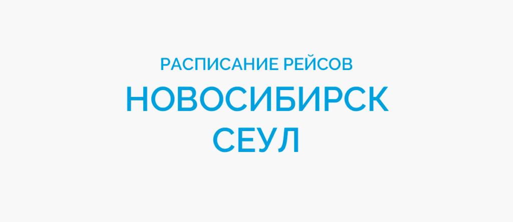 Расписание рейсов самолетов Новосибирск - Сеул