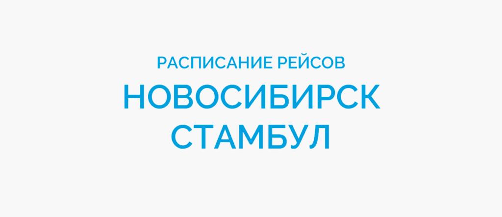 Расписание рейсов самолетов Новосибирск - Стамбул