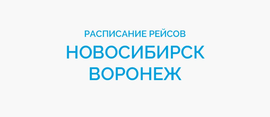 Расписание рейсов самолетов Новосибирск - Воронеж