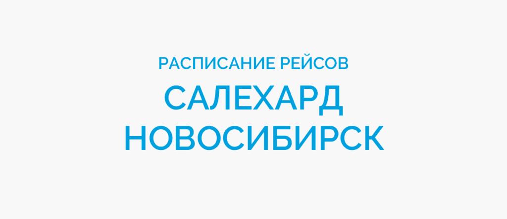 Расписание рейсов самолетов Салехард - Новосибирск